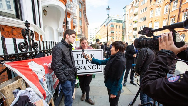 Na shodu proti izročitvi Juliana Assangea ZDA tudi znane osebnosti (foto: profimedia)