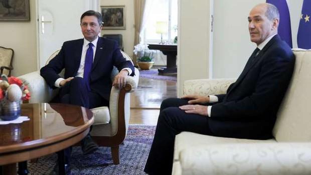 Pahor državnemu zboru predlaga Janšo za predsednika vlade (foto: Nik Jevšnik/STA)
