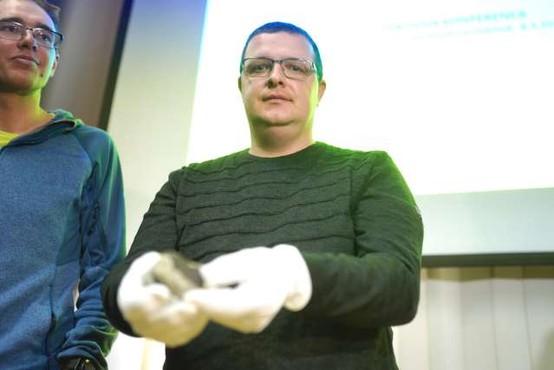 Gregor Kos iz Prečne pri Novem mestu našel prvi kos meteorita