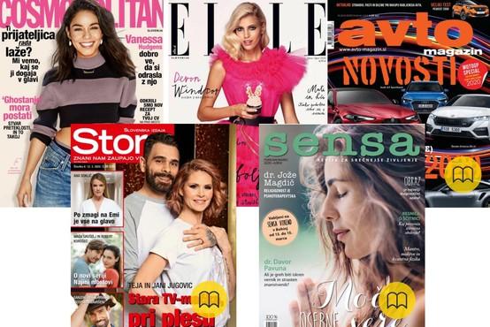 Revije Elle, Cosmopolitan, Sensa, Story in Avto magazin BREZPLAČNO na voljo samo še en teden!