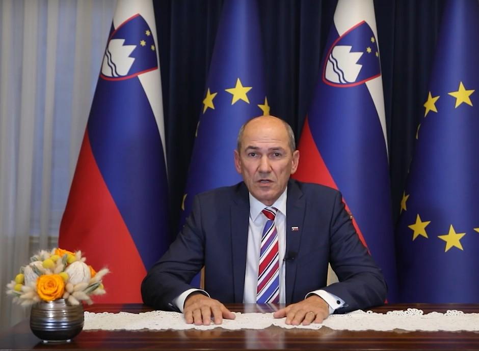 VIDEO: Nagovor predsednika vlade Janeza Janše državljanom (foto: Zajem zaslona)