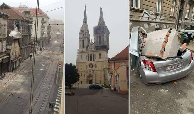 Hrvaško stresel potres z magnitudo 5,3, čutili so ga tudi v Sloveniji (foto: Hina/STA)