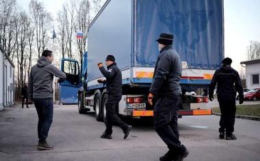 Odprema slovenske pomoči na Hrvaško za solidarno Evropo