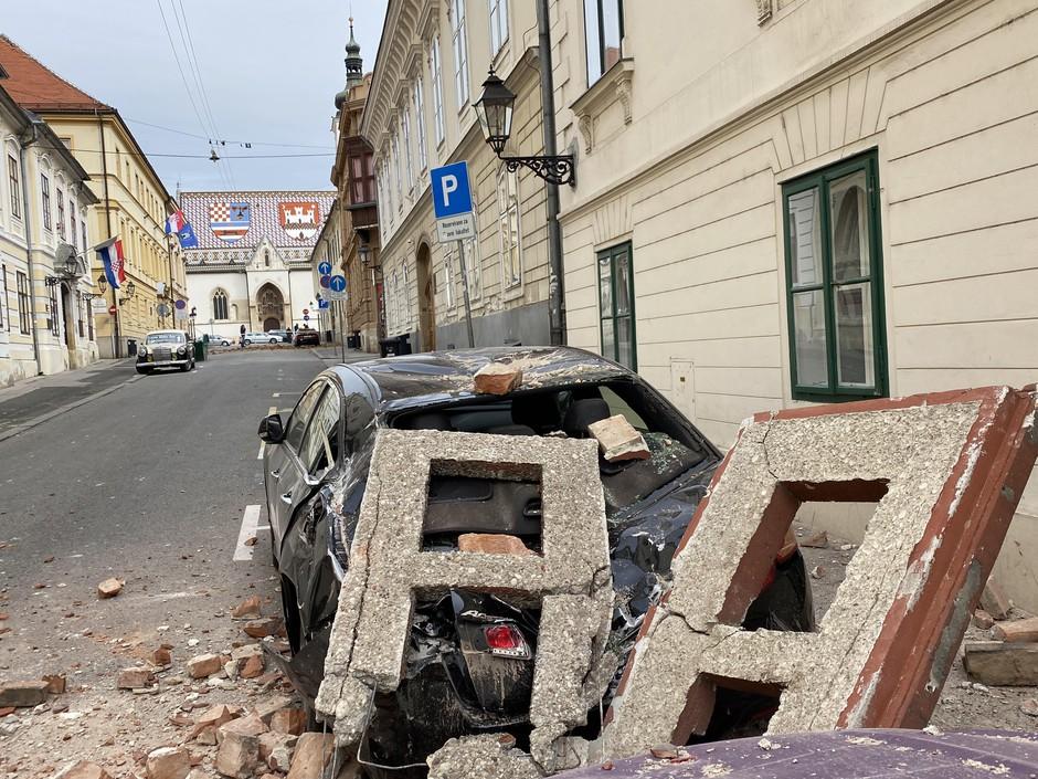 Po jutranjem potresu poziv Zagrebčanom, naj bodo previdni (foto: Igor Stažić)