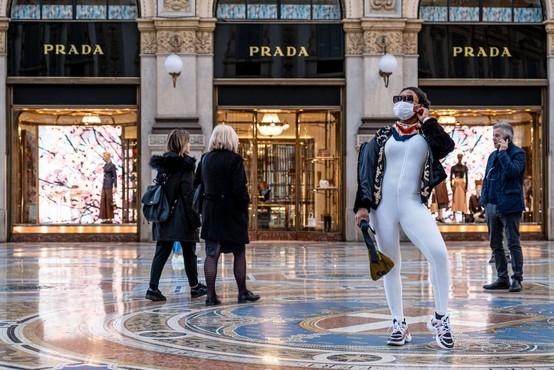 Italijanske modne hiše proizvajajo zaščitne maske
