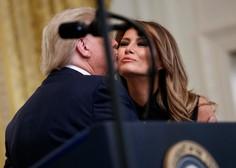 Donald Trump s kriznimi ukrepi, test za koronavirus Melanie Trump negativen