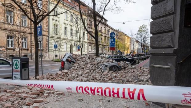 Prva groba ocena škode po potresu v Zagrebu znaša 270 milijonov evrov (foto: profimedia)