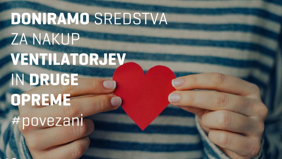 Telekom Slovenije bo vsaki od zdravstvenih ustanov doniral po 20.000 evrov (foto: promocijsko gradivo)