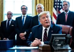 Več kot 100.000 okuženih v ZDA, Trump podpisal zajeten zakon o pomoči