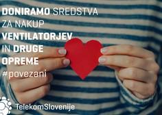 Telekom Slovenije bo UKC Ljubljana in UKC Maribor za nakup ventilatorjev in druge opreme za zdravljenje bolnikov s koronavirusom skupno doniral 40.000 evrov