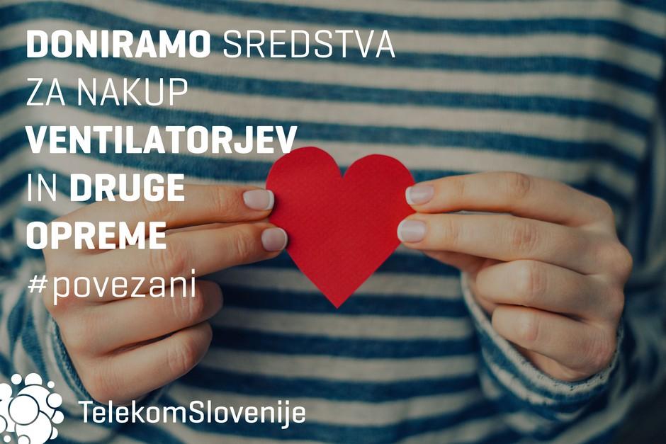 Telekom Slovenije bo UKC Ljubljana in UKC Maribor za nakup ventilatorjev in druge opreme za zdravljenje bolnikov s koronavirusom skupno doniral 40.000 evrov (foto: promocijski materiali)