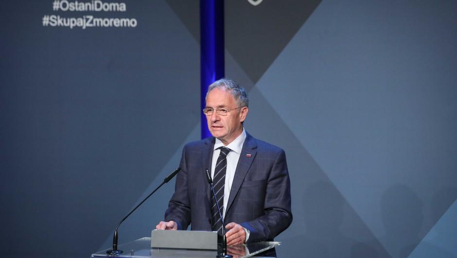 Notranji minister Aleš Hojs sprejel odstop državnega sekretarja Franca Breznika (foto: Anže Malovrh/STA)