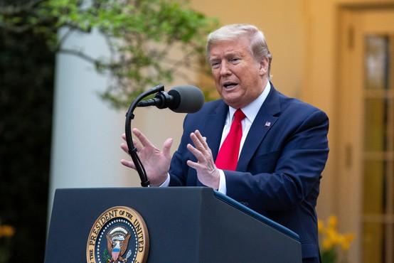 Donald Trump meni, da so v ZDA že dosegli vrhunec epidemije koronavirusa