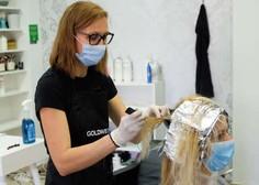Frizerski in kozmetični saloni po odprtju polno zasedeni