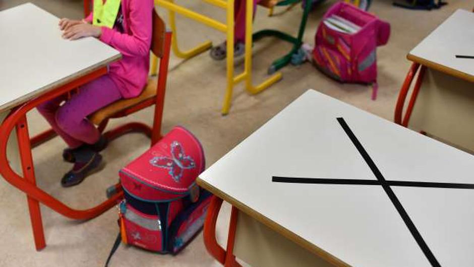 Ob ponovnem odprtju šol veljajo strogi zaščitni in higienski ukrepi (foto: Tamino Petelinšek/STA)