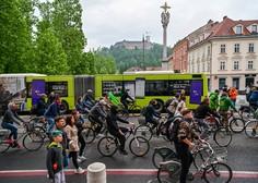 Protestni kolesarji znova na cestah slovenskih mest