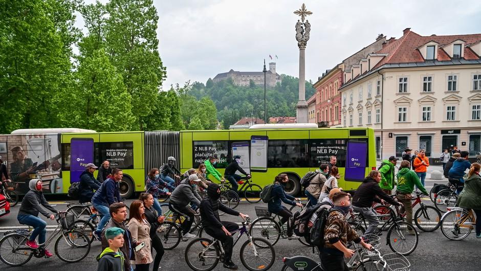 Protestni kolesarji znova na cestah slovenskih mest (foto: profimedia)
