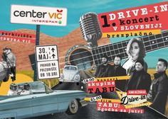 Prvi drive-in koncert v Sloveniji s skupino Tabu na parkirišču Centra Vič