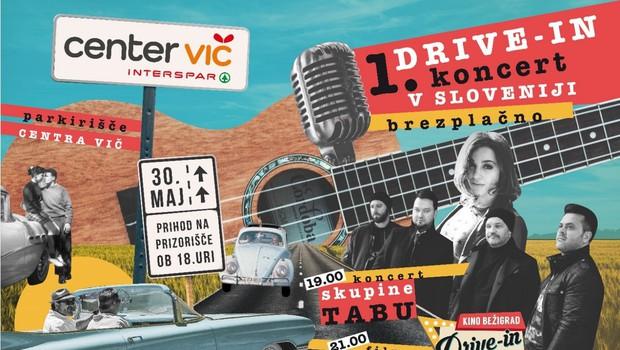 Prvi drive-in koncert v Sloveniji s skupino Tabu na parkirišču Centra Vič (foto: Drive-in)