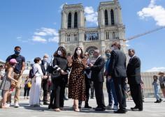Trg pred pariško katedralo Notre-Dame dobro leto po požaru znova odprt
