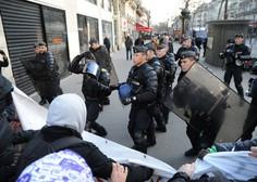 V Parizu sinoči izbruhnili spopadi med policijo in protestniki