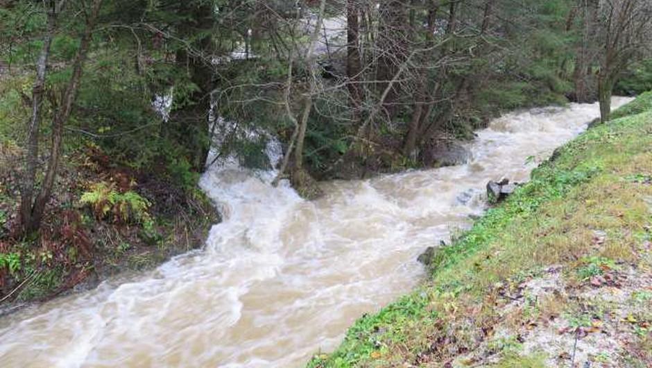 Zaradi padavin možna razlivanja rek in hudourniških vodotokov (foto: Andreja Seršen Dobaj/STA)