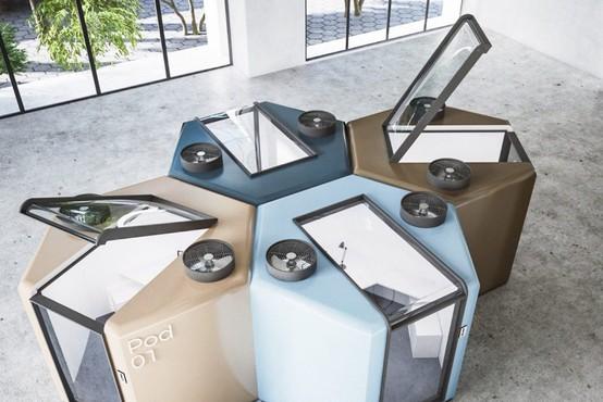 Nova realnost: Takšna je nagrajena ideja za pisarne v kabinah po pandemiji