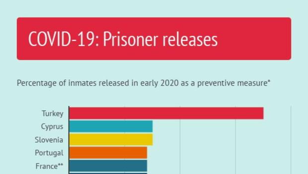 Slovenija na vrhu držav v Evropi glede na delež izpuščenih zapornikov med pandemijo (foto: Svet Evrope)