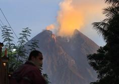 Indonezijski vulkan Merapi se je spet prebudil