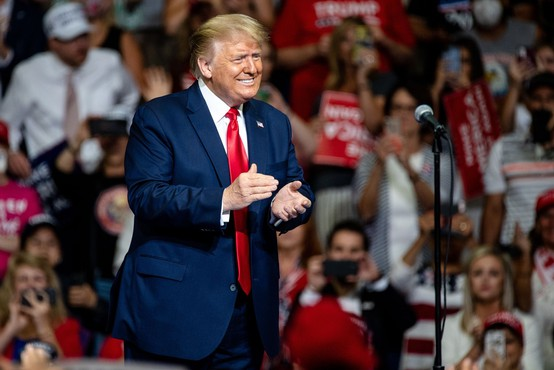 Na predvolilnem zborovanju Donalda Trumpa ni bilo pričakovane množice podpornikov