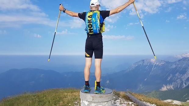 Marjan Zupančič v 7 dneh nad 600 kilometrov dolgo planinsko pot (foto: Facebook Marjan Zupančič)