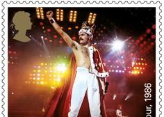 Po skupinah Beatles in Pink Floyd je britanska pošta z znamkami počastila še zasedbo Queen