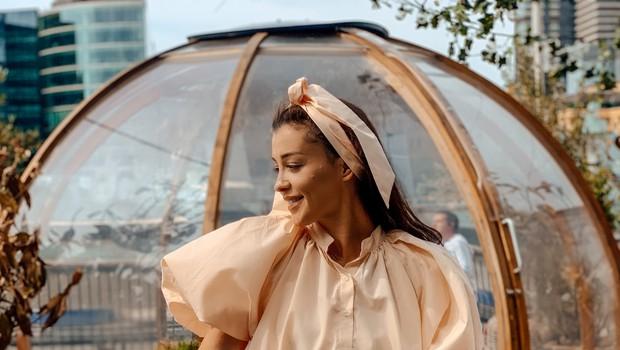 Sanja Grohar Kovič iz Londona z linijo oblačil (in svojo poletno obleko) (foto: osebni arhiv)