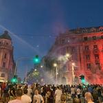 Na ulicah Beograda znova spopadi med protestniki in policijo (foto) (foto: Daniel B.)