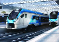 Nov Stedlerjev vlak na prvi poskusni vožnji v Domžale in Kamnik (video)