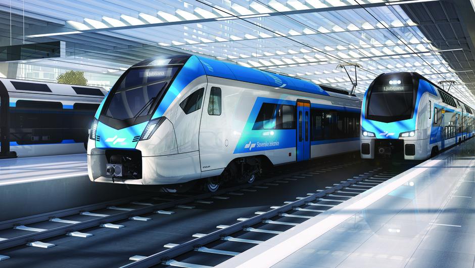 Nov Stedlerjev vlak na prvi poskusni vožnji v Domžale in Kamnik (video) (foto: Slovenske železnice)