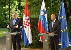 Janša in Plenković na Otočcu za še tesnejše sodelovanje v boju proti epidemiji