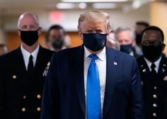 Donald Trump si je prvič nadel zaščitno masko v javnosti