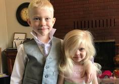 6-letnik hrabro rešil sestrico pred pobesnelim psom. Na obrazu ima kar 90 šivov.