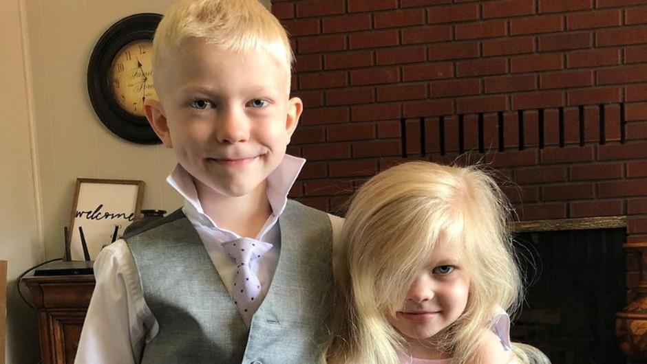 6-letnik hrabro rešil sestrico pred pobesnelim psom. Na obrazu ima kar 90 šivov. (foto: Instagram)
