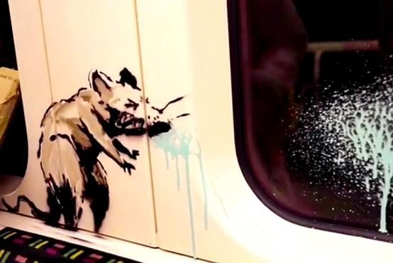 Banksyjeva zadnja umetnina uničena kot 'vandalizem', čeprav je vredna milijone