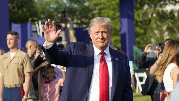 Trump kljub slabi epidemiološki sliki trmasto vztraja, da ne bo ukazal obvezne uporabe mask (foto: profimedia)