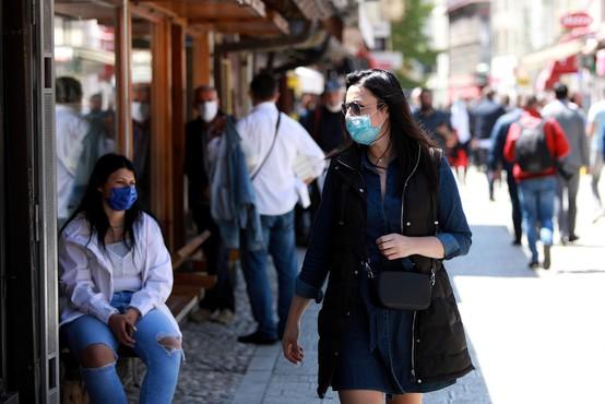 V Bosni in Hercegovini so v zadnjem dnevu potrdili 343 novih okužb