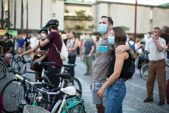 Na protestih v Ljubljani tudi za pravice žensk