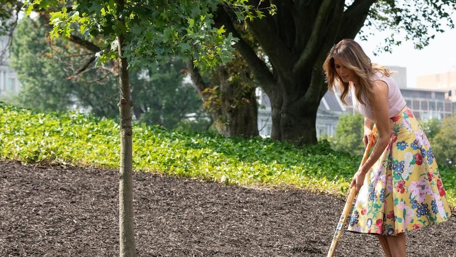Zaradi rožnega vrta Melanio Trump primerjajo z Marijo Antoaneto (foto: profimedia)