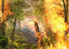 Kljub vladni prepovedi požigov je amazonski gozd znova v plamenih