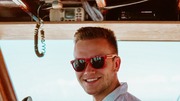 Luka Basi najraje dopust preživlja na morju. (foto: osebni arhiv)