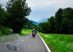 Nemški motorist na Tolminskem vozil 144 kilometrov na uro