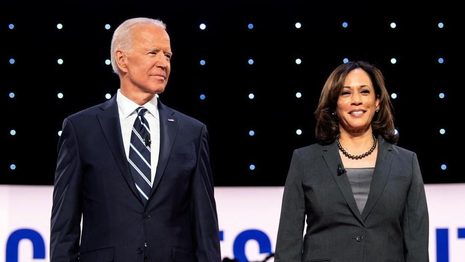 Biden za svojo podpredsedniško kandidatko izbral temnopolto Kamale Harris (foto: Profimedia)