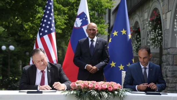 Slovenija in ZDA podpisali izjavo o varnosti omrežij 5G (foto: Anže Malovrh/STA)